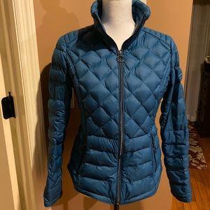MK beautiful blue down puffer jacket